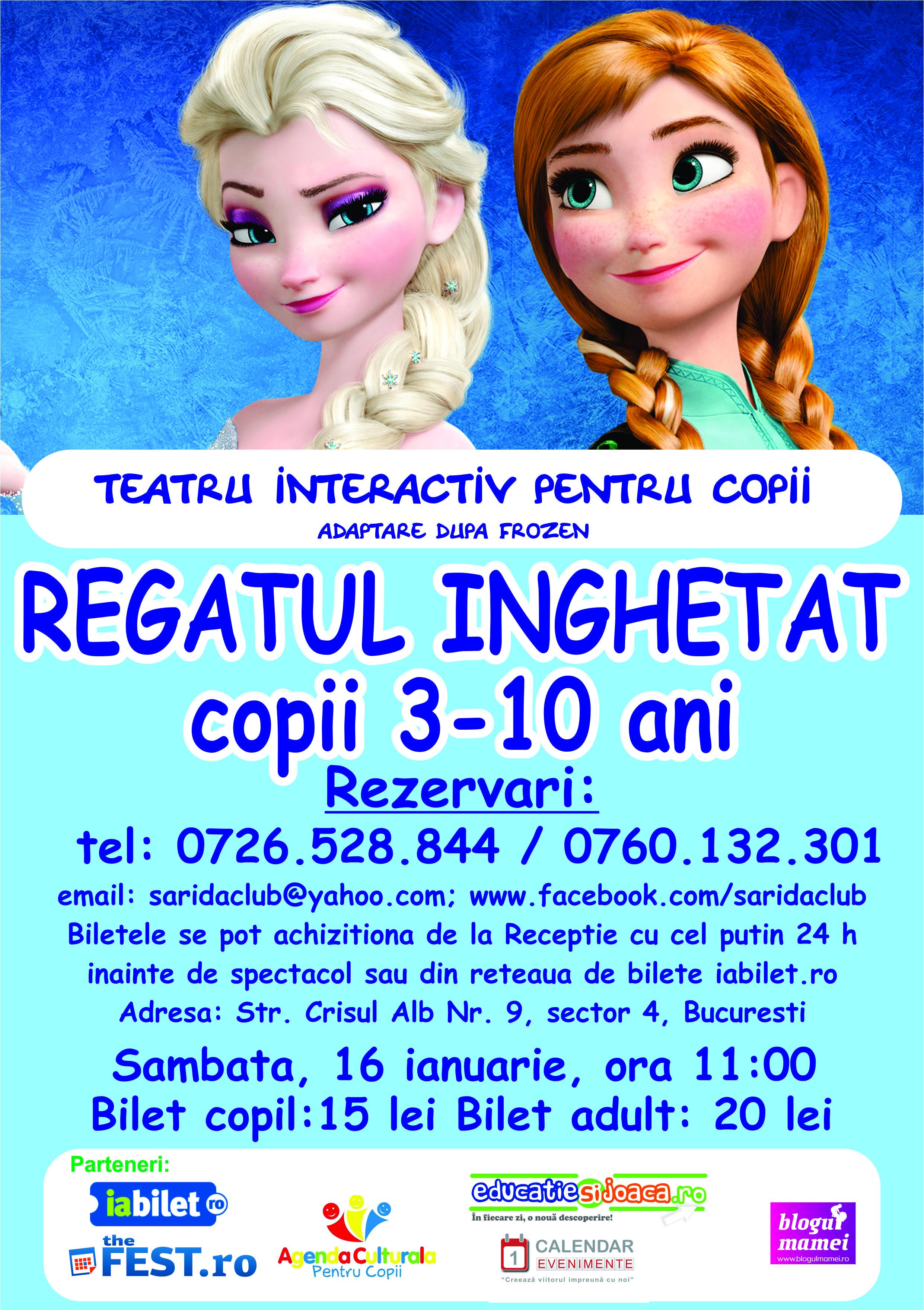 Spectacol de teatru interactiv Frozen 16 ianuarie 2016