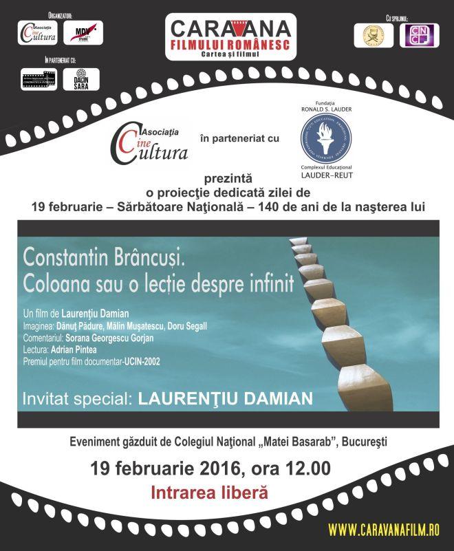 Afis eveniment Constantin Brancusi. Coloana  infinitului (1)