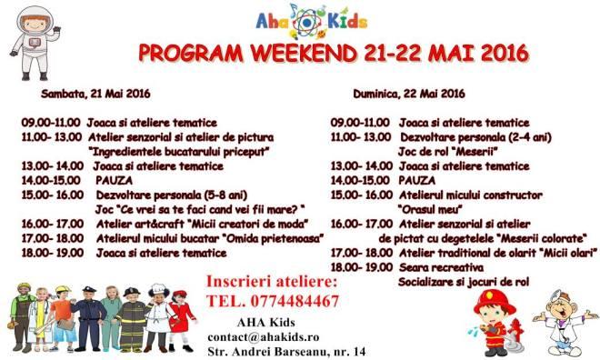 program 2-22 mai