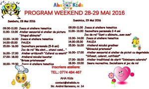 Weekend-ul 28-29 mai