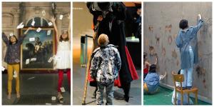 Copii la Noaptea Muzeelor 2015 Collage